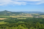 Výhled z vrchu Ostrý, České středohoří