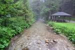Po dešti. Gaderský potok u kempu.