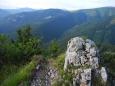 Boční hřeben Ostredku na Štrochy (1 386 m n. m.). zítra využijeme k sestupu.