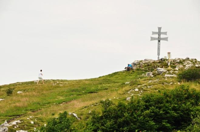 Vrchol Klaku (1 352 m n. m.).