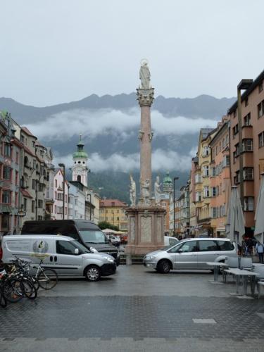 Oblačnost konečně mizí, tohle je ten správný Innsbruck.