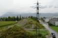 Výhled na Innsbruck z hostelu Marmota