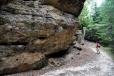Mohutnost některých skal je impozantní.