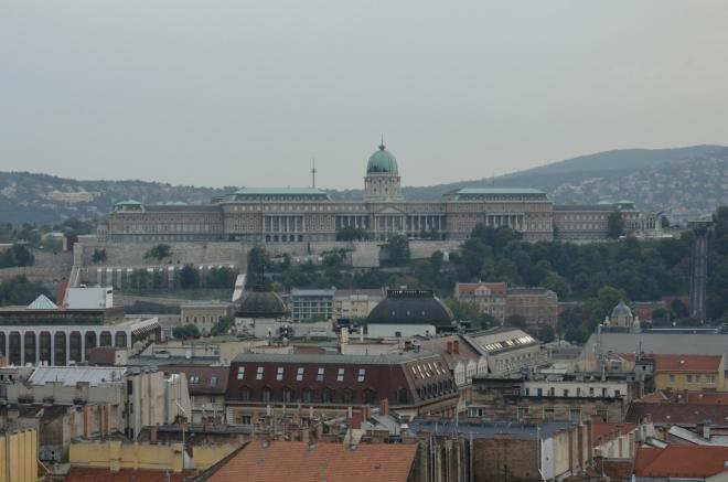 Přiblížení Budínského hradu (Budai Vár)