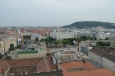 Budapešť, výhled z baziliky svatého Štěpána (Szent István-bazilika) na jih až jihozápad