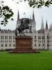 Socha Františka II. Rákócziho před budovou Maďarského parlamentu