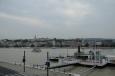 Dunaj v Budapešti, v pozadí Budín