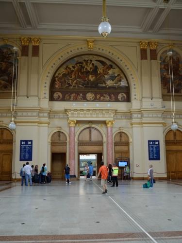 Interiér nádraží ještě jednou