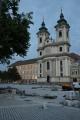 Náměstí Istvána Dobó (Dobó István tér) s minoritním kostelem, Eger, Maďarsko