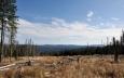 Výhled od vrcholu Nové Studnice směrem k Antýglu.