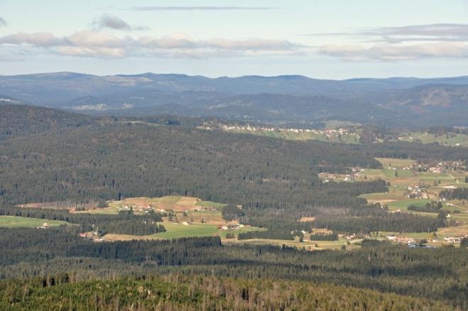 V pozadí obec Bishofsreut.