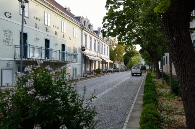 Ulice Lujzy Blahy (Blaha Lujza utca), pojmenovaná po maďarské herečce, která zde mívala prázdninové sídlo, nás záhy přivádí k hlavnímu náměstí (teď se ovšem ohlížíme zpět).