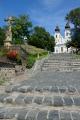 Cesta ke klášteru v Tihany, Maďarsko