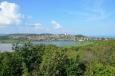 Jezero Belső-tó, vesnice Tihany a Balaton v pozadí, Maďarsko