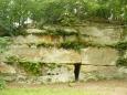 Pěkně viditelné skalní bloky