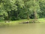 Klenba můstku přes přitékající potůček z parku