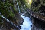 Soutěska Wimbachklamm, Berchtesgadenské Alpy, Německo