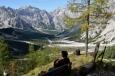 Nad údolím Wimbachtal, Berchtesgadenské Alpy, Německo