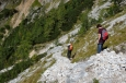 Sestup ze sedla Trischübel, Berchtesgadenské Alpy, Německo