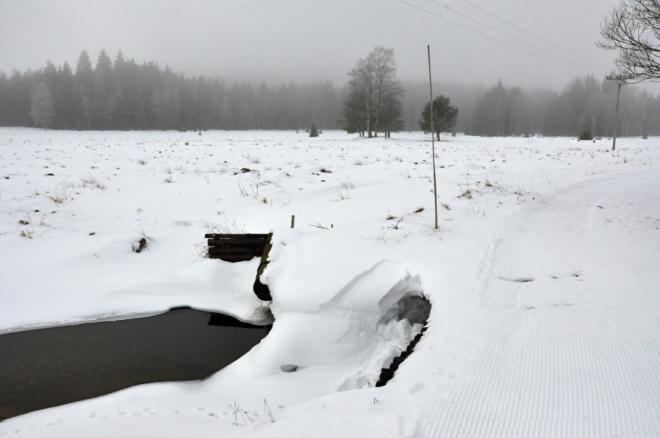 U Kořenského potoka.