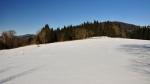 Vlevo vzadu Žlíbský vrch, vpravo Žlebský vrch.