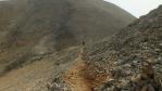 stezka vlevo vede až k refuge Katsiveli a pak třeba až na horskou chatu Kallergi a na Omalos ...