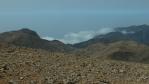 mohutný opar nad Agia Rumeli (konec Samarie u Lybijského moře) ...