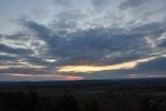 Před setměním buhužel hezký západ slunce znemožnily mraky.