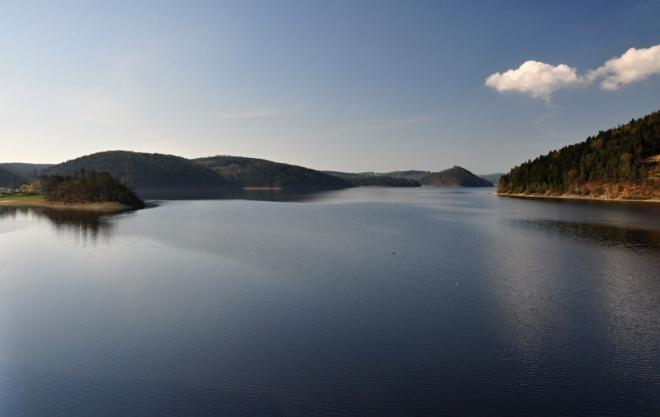 Orlická přehradní nádrž.