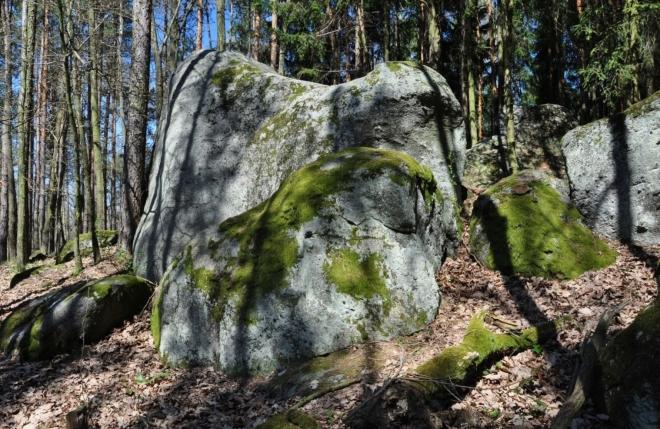 Na Ďáblovo lože musíme sejít z naučné stezky Okolím Smolotel.. Je vlevo v lesíku za loučkou, nedaleko infocedule.