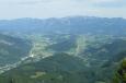 Pohled na sever na hřeben Sengsengebirge (národní park Kalkalpen)