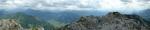 Panorama z Bosrucku, pohled na východ a jih, kde je mj. Gross Bösenstein.