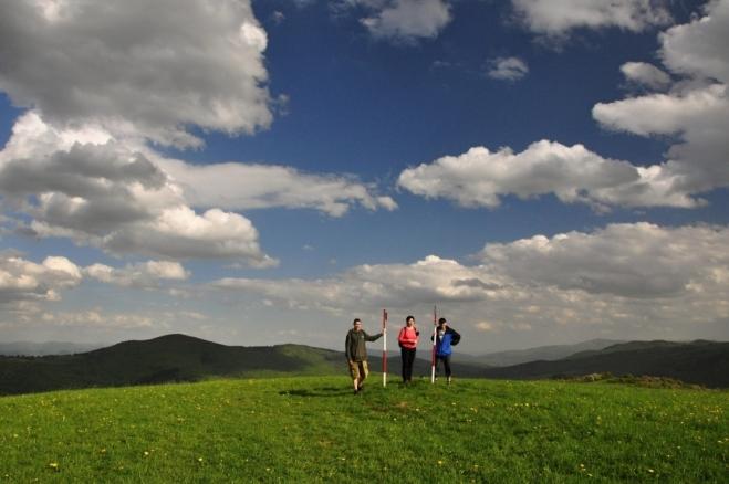 Na vrcholu Žítkovského vrchu.