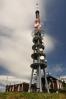 Vysílač na vrcholu Velké Javořiny.