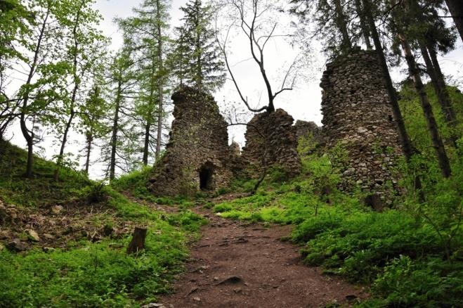 Zřícenina hradu.