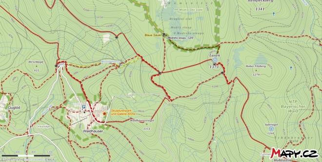 mapka Luzný