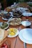 Restaurace ve vesnici Aramus, Arménie