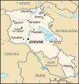 Mapka Arménie (volné dílo převzaté z https://commons.wikimedia.org/wiki/File:Am-map_-_2.png)