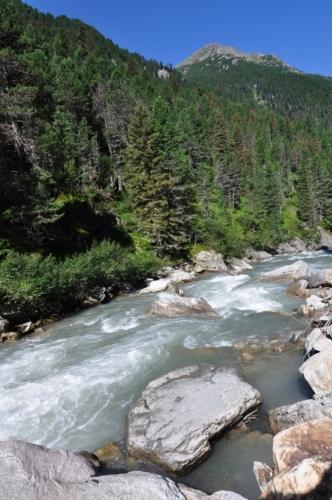 Řeka Krimmlerer Ache.