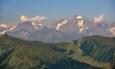 Na Balkánu by se vzdálená hora jistě jmenovala Krivoj rog, jak v Rakousku, nevím.