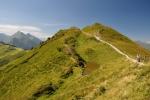 Pohled zpět na Fulseck (2 033 m n. m.).
