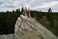 Expozice vrcholových skal je impozantní.