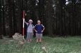 Dalším vrcholem je plochá Křovina. Je tak plochá, že na ni Franta odmítl jít.