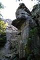 PP Pasecké skály. Opět atraktivní a vysoké skalní bloky se zajištěnou vyhlídkovou plošinou.