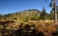 Strání mimo l. zónu jsme se vyšplhali na hřeben s krásným výhledem na nedalekou Jezerní horu (1 343 m n. m.).
