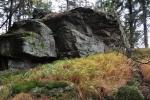 Vrcholek Dřevěné hole (1 206 m n. m.).