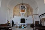 Uvnitř opravené části kostela Panny Marie.