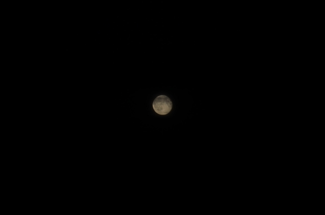 Od Dánska na nás takto krásně vykoukne Měsíc.