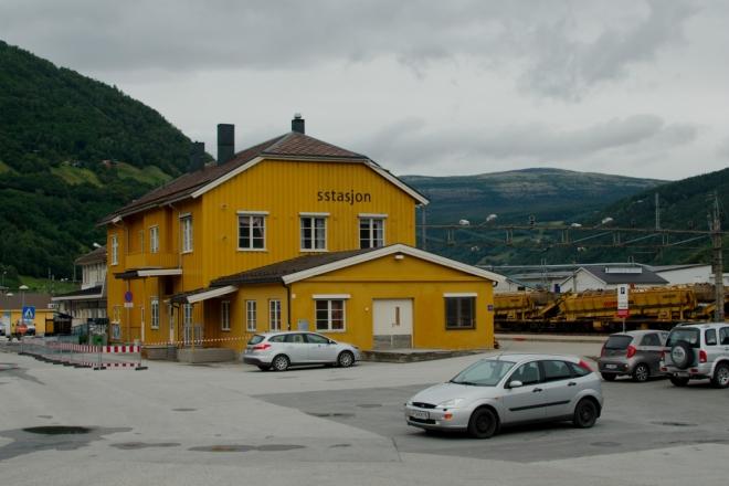 Železniční stanice s infocentrem ve městě Otta