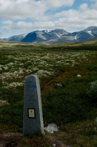 Kámen označující hranici národního parku
